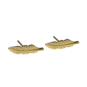 another feather studs oorbellen goud