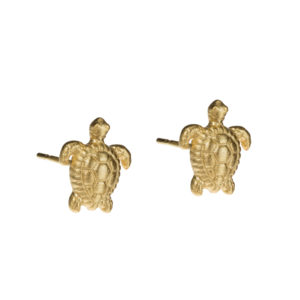 little miss turtle studs oorbellen goud
