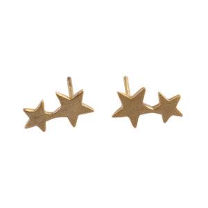 starry nights studs oorbellen goud