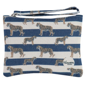 tigers & stripes royal navy clutch