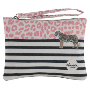 wild thing coral pink clutch