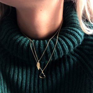 heart to get ketting goud