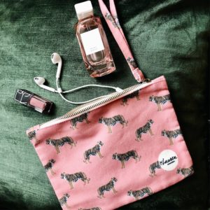 only tigers for me coral pink clutch medium