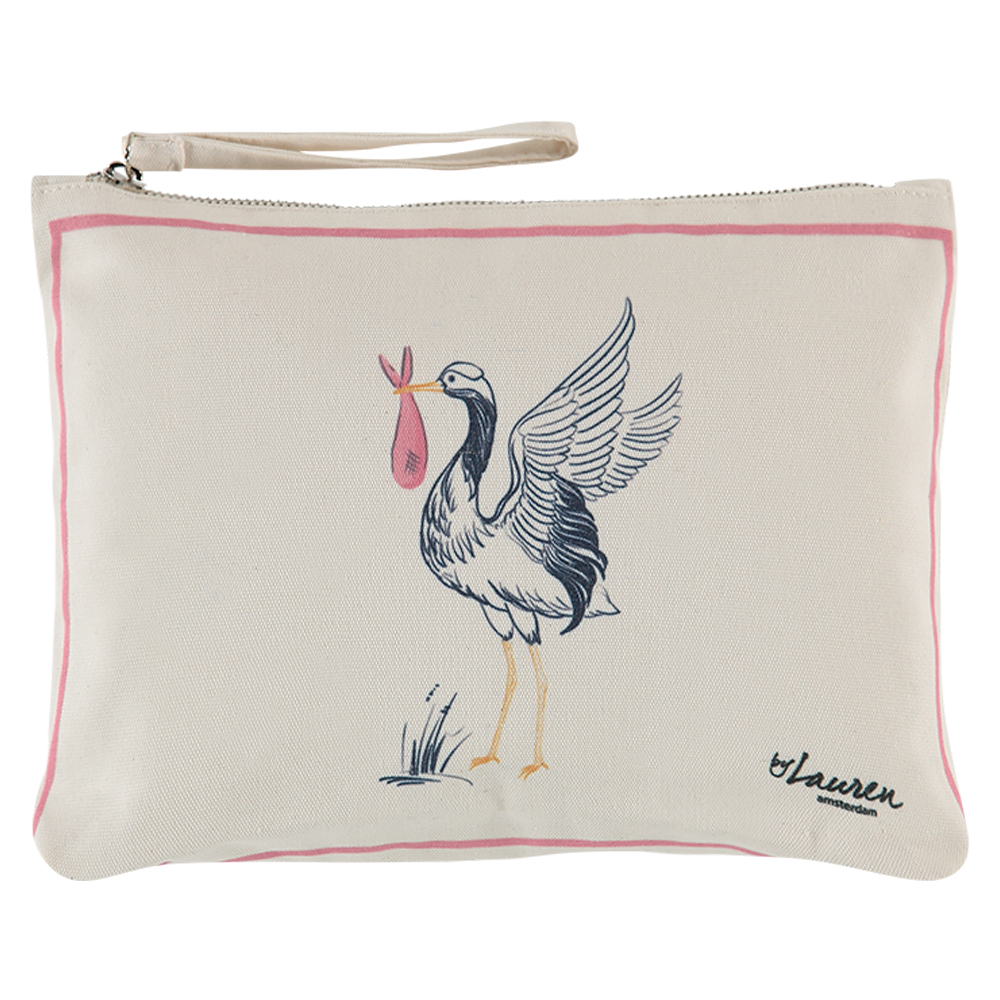 special delivery baby pink clutch medium