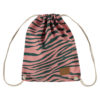pink green zebra backpack