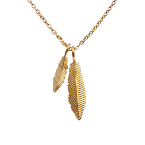 feather party ketting goud