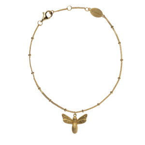 bee happy armband goud