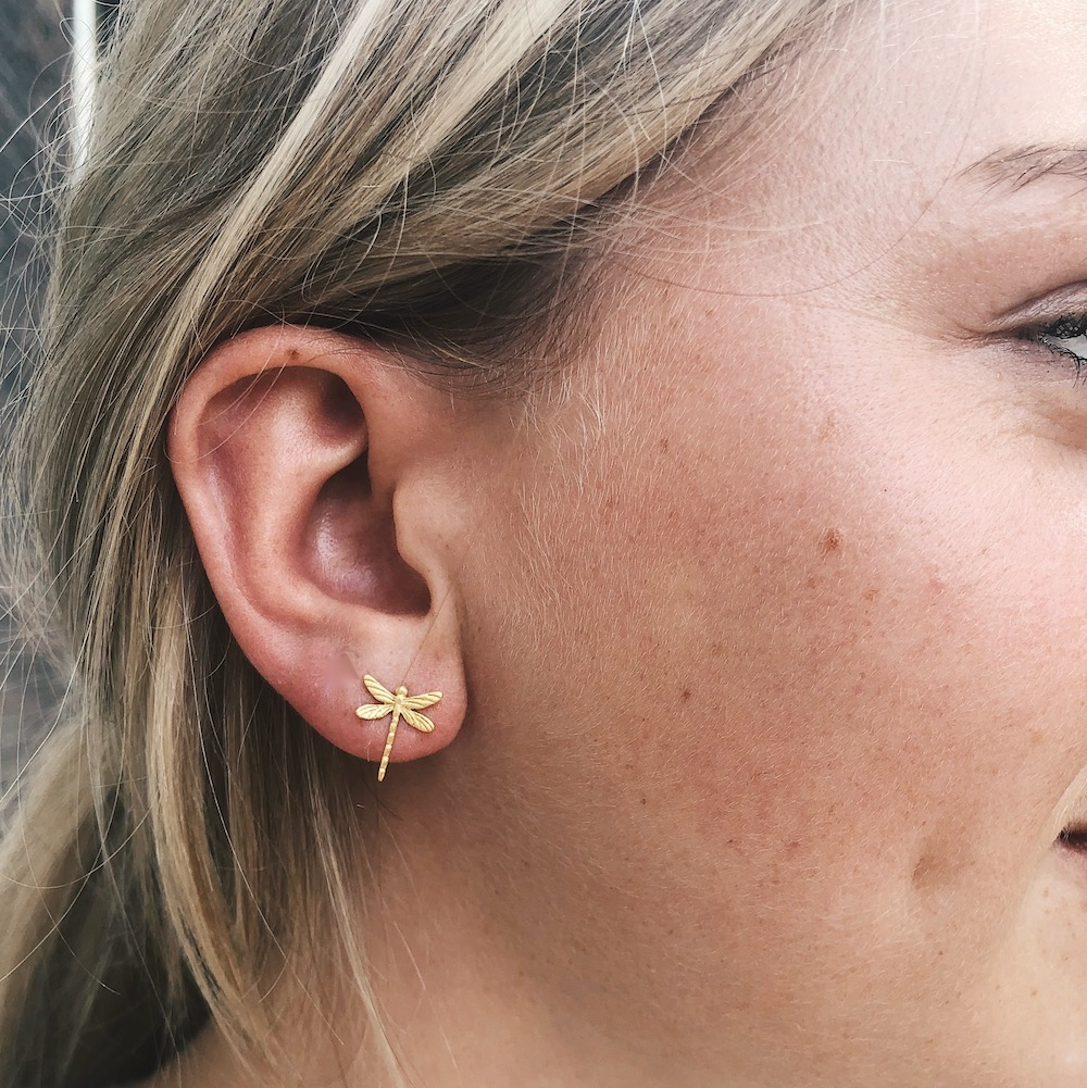 give me wings studs oorbellen goud