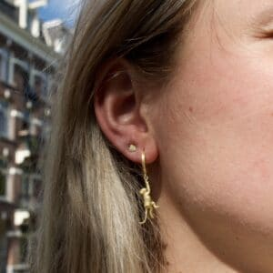 hanging around hoops - ray of light mini studs oorbellen goud