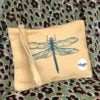 dragonfly sunny yellow clutch small