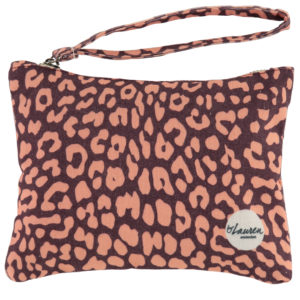 leopard only burgundy clutch