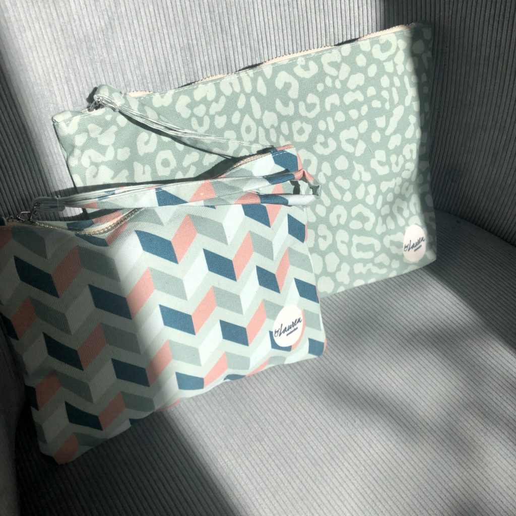 get lost minty green clutch small