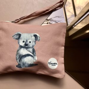 love me some koala vintage pink clutch small