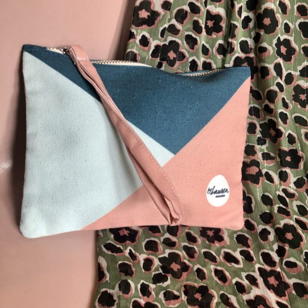 grafity vintage pink clutch small