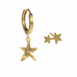 starry nights oorbellen set goud