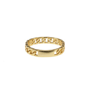 chunky chain ring goud voorkant