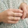 tied up - chunky chain ring goud