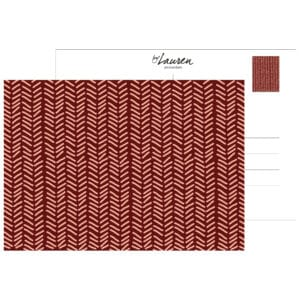 postcard herringbone burgundy
