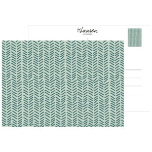 postcard herringbone ocean green