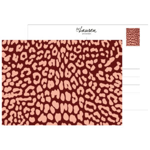 postcard leopard only burgundy